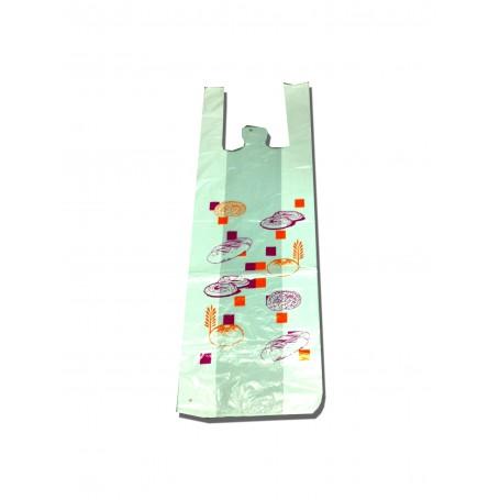 Bolsa plástico 30x60 cm Asas Camiseta BO Impresa Genérica