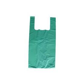 Bolsa plástico 42x53 cm Asas Camiseta Kg. Color Verde